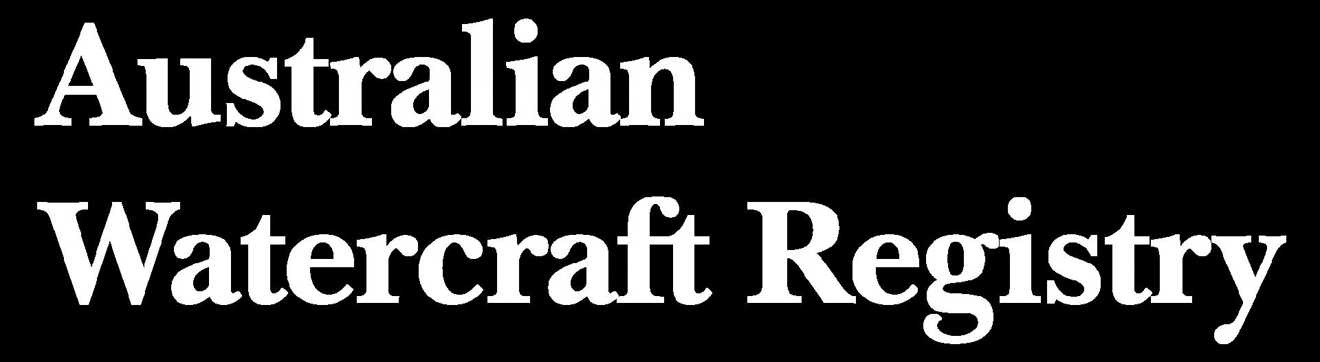 Australian Watercraft Registry